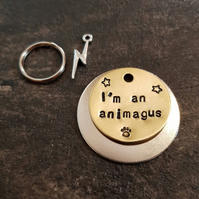 I'm an animagus - Harry Potter inspired dog pet handmade stamped tags PoshTags