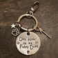 Dog hair is my fairy dust keyring dog pet handmade stamped tags PoshTags