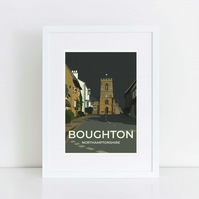 Mounted print of Boughton, Northamptonshire