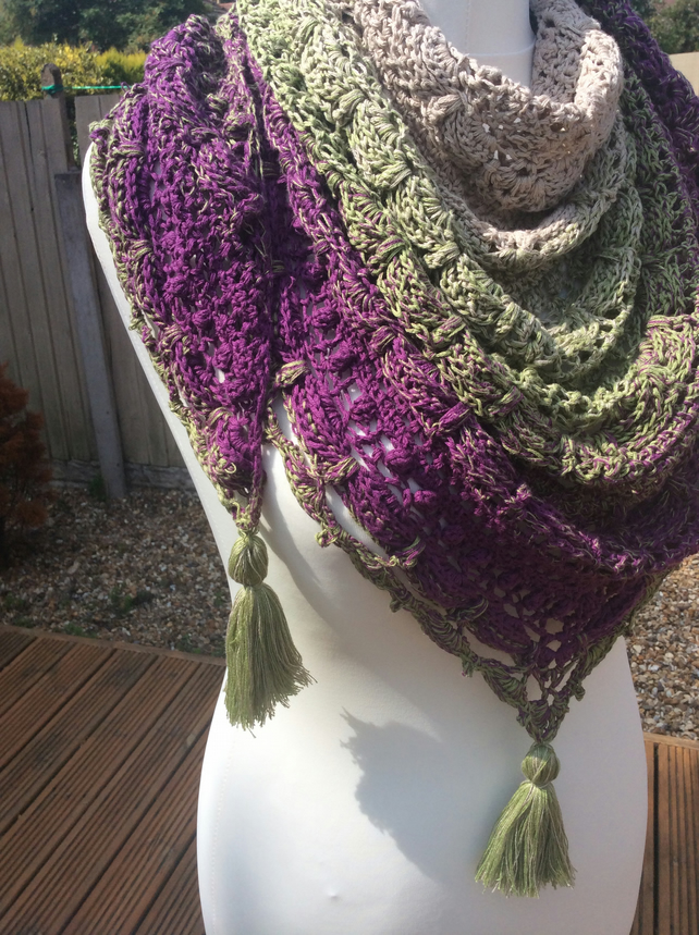 Handmade crochet Lost in Time scarf