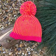 Handmade crochet big bobble adult  hat