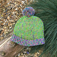 Handmade crochet adult bobble hat