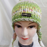beautiful winter hat with ear flaps