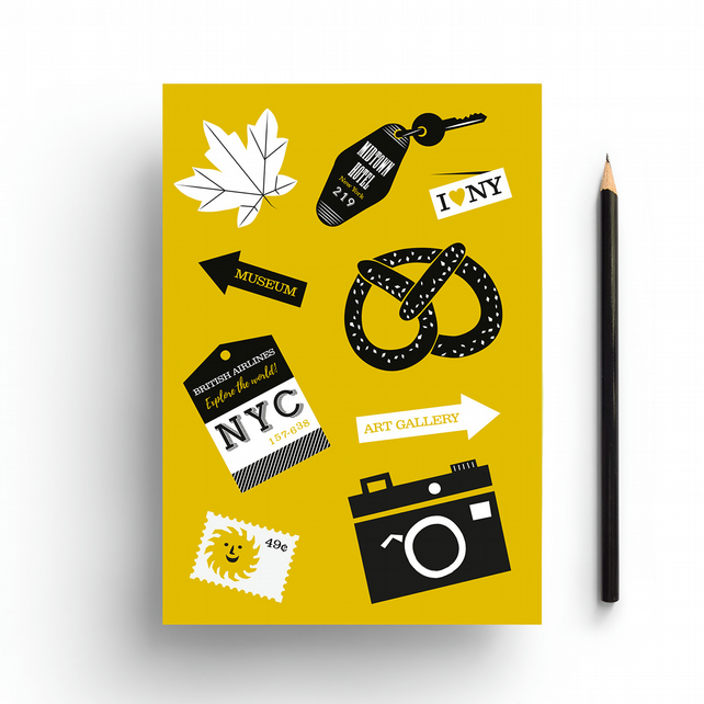 New York Travel A5 Notebook