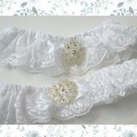 Bridal Wedding Garters Hers & Hers
