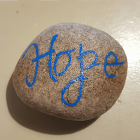 Hand Painted Pebble Inspirational Words Hope Art Rock Stone Painting