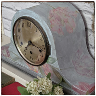 Upcycled Napoleon Hat Westminster chime mantel clock
