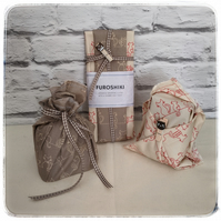 Furoshiki reusable cotton wrapping cloth with a Shabby Chic twist