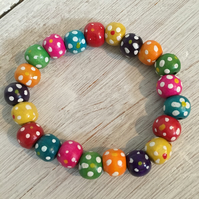 Colourful spotty bracelets