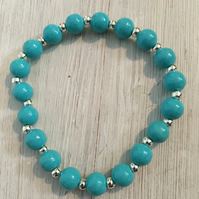 Ladies beaded bracelets with spacer bead detail