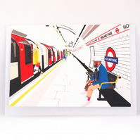 London Holland Park Tube Greeting Card