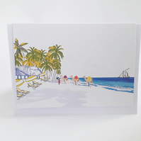 Illustration of the Coast, Kenya, Mombasa, Greeting Card