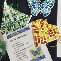 Mosaic DIY butterfly, boat or heart kit