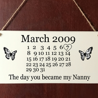 Personalised Deluxe Plaque Mum Nanny Auntie Grandma Mother's Day Gift Present