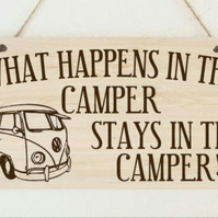 Hand Made Wooden Plaque Camper Funny Sign Present Gift
