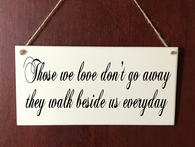 Hand Made DELUXE Plaque Memorial Bereavement Heaven Butterflies Love Gift Sign