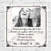 Personalised Photo Plaque Mum Sister Auntie Friend Daughter Cousin Nanny Gift