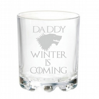 Personalised Engraved Game of Thrones Dad Mixer Glass Any Name Birthday Gifts