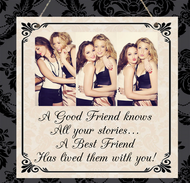 Personalised PHOTO Plaque Friendship Best Friend FriendsThank you Birthday Gift