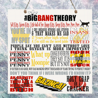 The Big Bang Theory TV Show Quotes Birthday Gift Present Plaque Sign Wall House