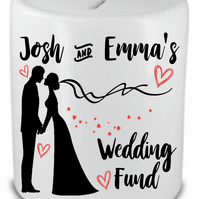 Personalised Ceramic Money Box Wedding Fund Engagement Anniversary Gift