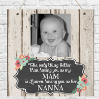 Personalised Photo Plaque Mum Grandma Nanna Sister Auntie Mothers Day Nanny Gift