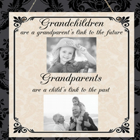 Personalised Photo Plaque Family Grandma Nanny Christmas Anniversary Gift