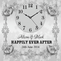 Beautiful Personalised Wedding Day Clock Present Chic Gift Bride Groom Marriage