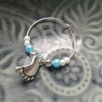New baby wine glass charms