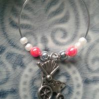Christening wine glass charms