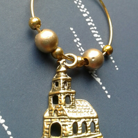 Church wine glass charm