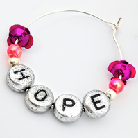 Hope wine glass charm