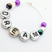 Dream wine glass charm