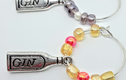 Wine glass charms on silver hoops. Bling up your glass!