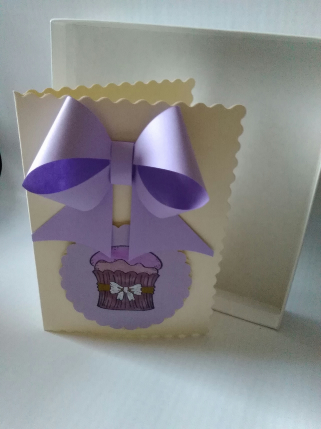 Handmade Cupcake greeting card