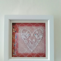 "Papercut ""love"" boxframe"