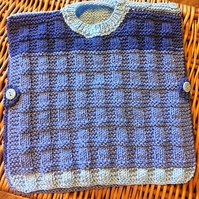 Hand knitted poncho to fit 0-3 months
