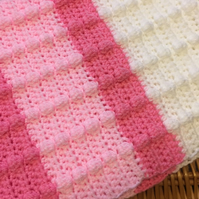 Pinks and white baby blanket