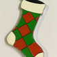 Hanging Stocking Christmas Decoration - Hand Painted