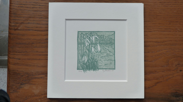 "Original limited edition multi plate linocut "" Spring Walk"""
