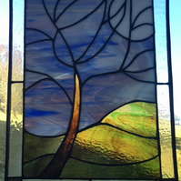 Super Moon - Stained Glass Art Panel