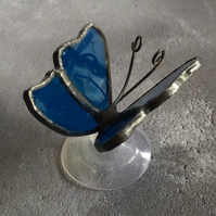 Stained Glass Butterfly - Teal Blue