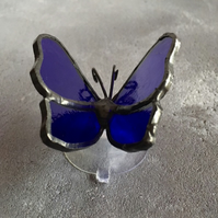 Stained Glass Butterfly - Indigo Blue