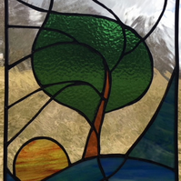 Windblown - Stained Glass Art Panel