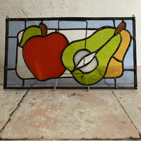Stained Glass Panel - Apple and Pears
