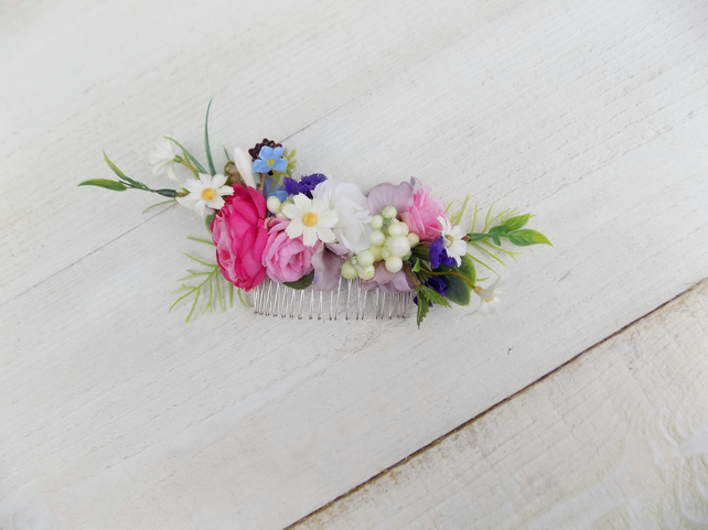 Flower hair comb Spring Summer bridal wedding hair slide hair accessories boho