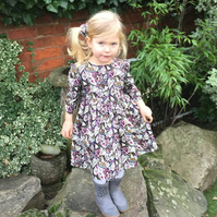 Girls dress handmade in floral print