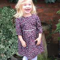 Girls Dress handmade in Strawberry Print