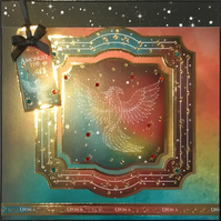 Luxury handmade card - constellation Phoenix