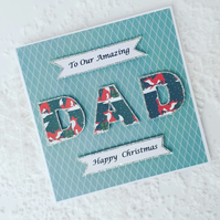 Christmas card for dad, Dad Christmas card